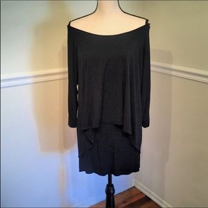 White House Black Market Black Overlay Dress